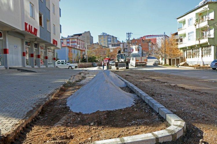 Afşin'de Caddeler Yenileniyor