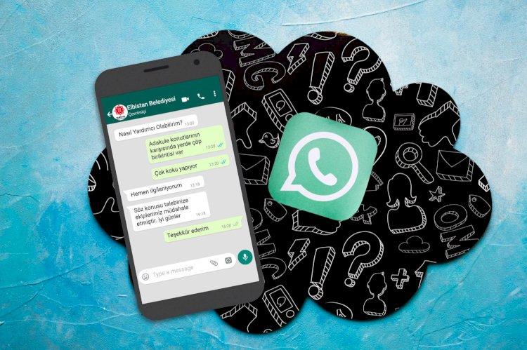 Elbistan Belediyesi Whatsapp Çözüm Hattına Rekor Başvuru