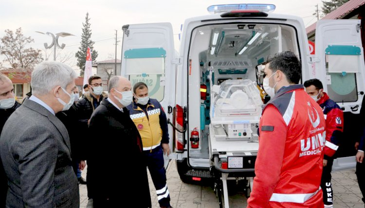 Kahramanmaraş'a Sağlık Bakanlığı Tarafından 10 Yeni Ambulans