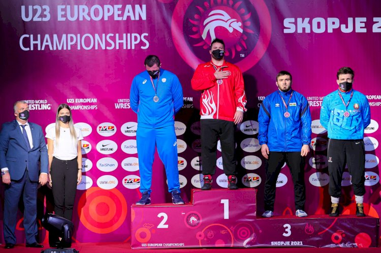 KSÜ Öğrencisi Milli Güreşçi Anıl Berkan Kılıçsallayan, Avrupa Güreş Şampiyonasından Altın Madalya İle Döndü.