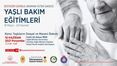 Prof. Yücer'le Yaşlıların Sosyal ve Manevi Bakımı