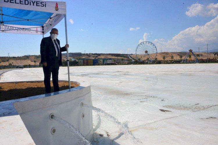 EXPO 2023 Alanında Bulunan Kristal Lagüne İlk Su Verildi
