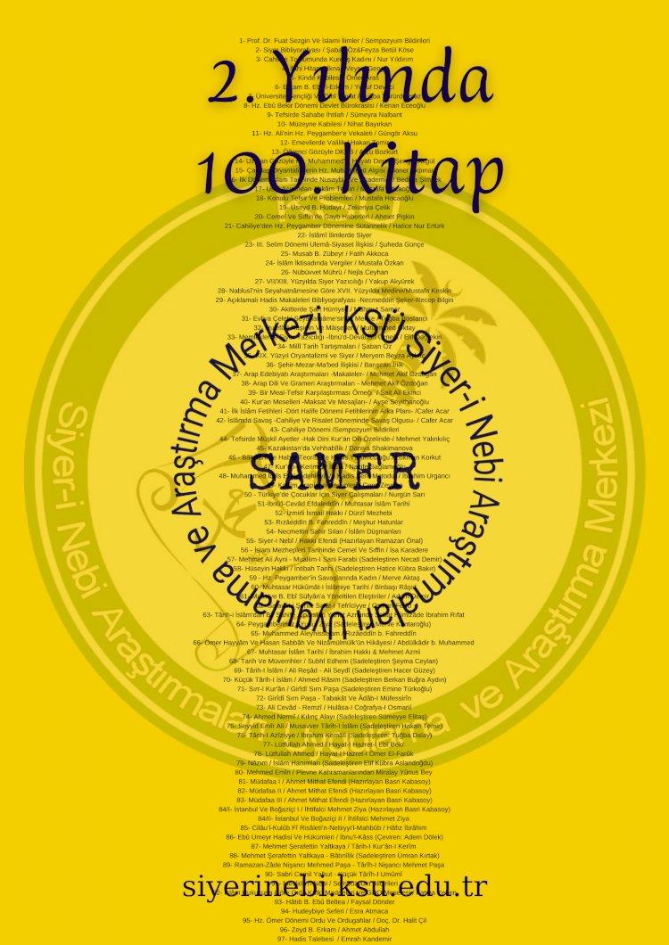 SAMER Yayınları İki Yıla 100 Kitap Sığdırdı